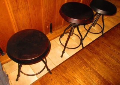 Group of industrial stools