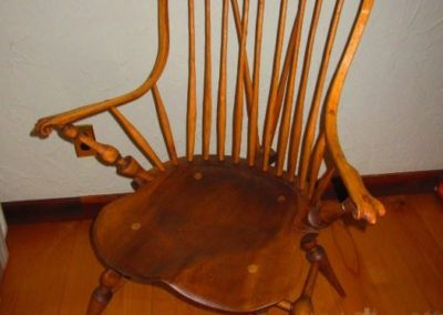 Hand constructed Windsor chair after the antique