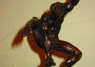 "Campbell Paxton bronze sculpture "" The Acrobat """