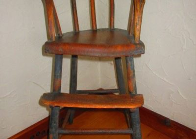 Mid 19th century child's high chair