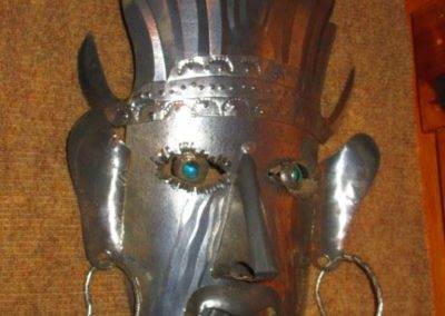 Mexican metal work mask