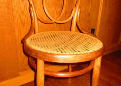 Unusual bentwood side chair circa 1900