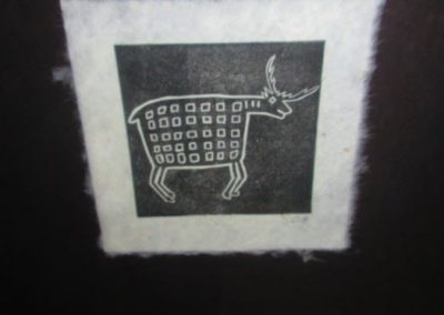Michael Colombo hand carved block print