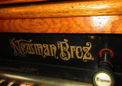 Detail of Newman Brothers Victorian pipe organ