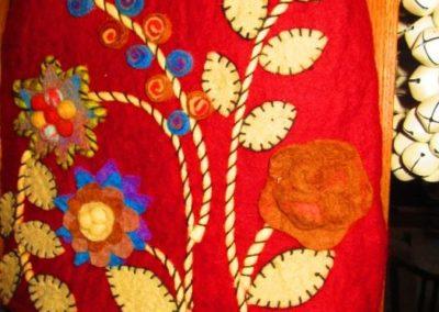 Handmade felted purse