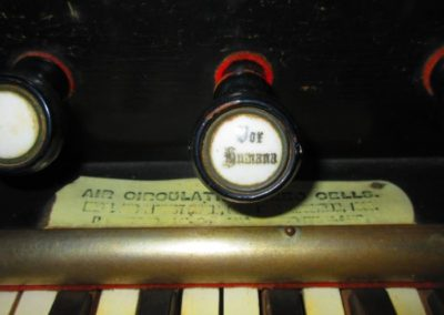Detail of Victorian Newman Brothers pipe organ