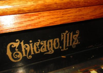 Detail Victorian pipe organ by Newman Brothers