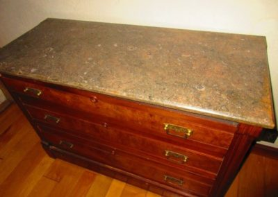 Marble top Victorian chest of drawers