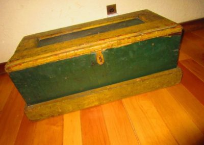 An antique trunk with original paint, 19th century