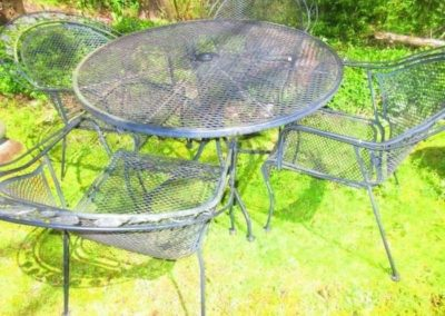 Iron garden table and chairs