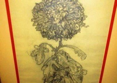 Pastel of a Chrysanthemum