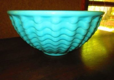 Large art pottery mixing bowl, American