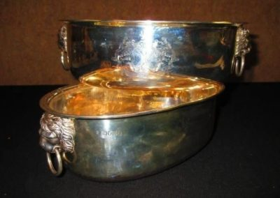 Pair of English silver cache pots