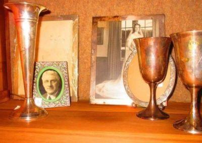 Group of Sterling frames, vases and goblets