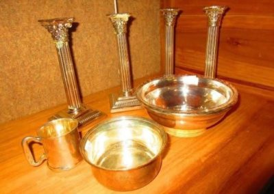 Group of Sterling and silver plate