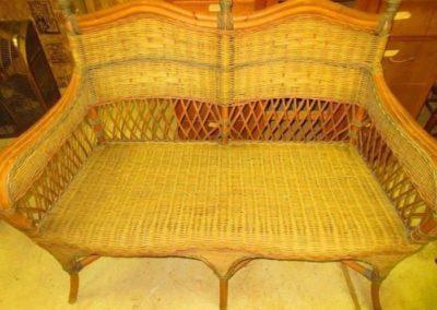 Vintage wicker settee