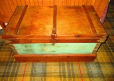 19th century trunk with original paint