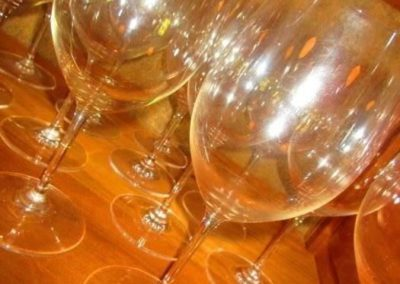 Group of wine goblets