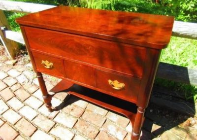 A nineteenth-century continental washstand