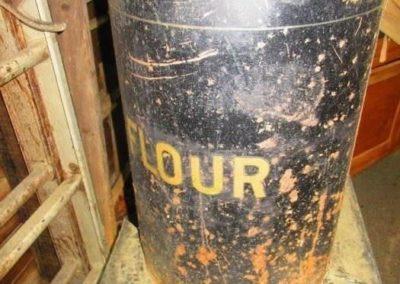 Antique large flour tin