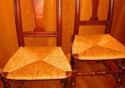 A pair of 18th century chairs