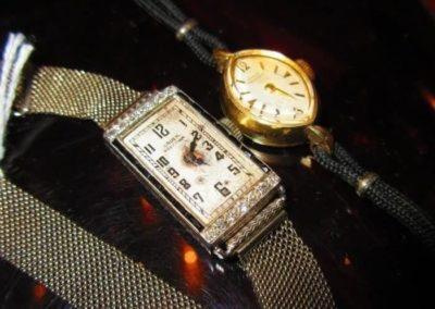 10kt gold filled Girard Perregaux Watch, and a platinum and 14kt gold Gruen watch (weight 14.7 dwt)