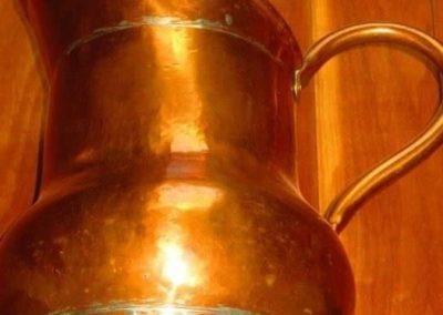 Large antique copper jug