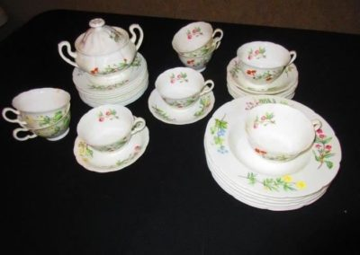 Group of Minton dishes