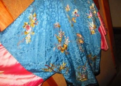 Verso image of a antique Chinese silk robe
