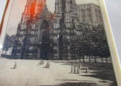 Portrait of Notre Dame by H. Gordon Warlow (1885-1942)
