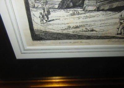 """""""Veduta del Prospetto dell Arco di Giano"""" Roma 1820"""