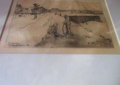 """Les Fortifications Sur Boulevard Bessiere"" etching v/v aquatint & roulette 1902 by Eugene Bejot"