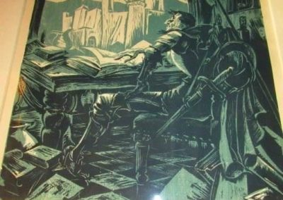 Hans A. Mueller (1888-1963) block print