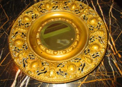 Mid 19th C. brass mirror