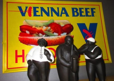 Vintage advertising sign for Vienna Beef
