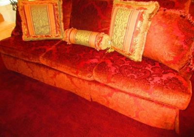 Down-filled custom upholstered sofa