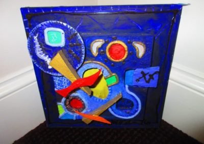 Artist signed contemporary assemblage