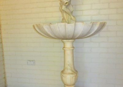 Outdoor marble putti fountain (original to the home)
