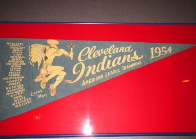 Framed Cleveland Indians American League Champions 1954 pennant