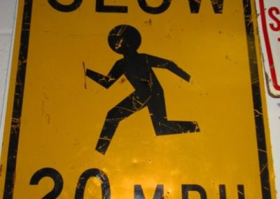 Vintage children at play sign