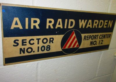 vintage air raid warden sign