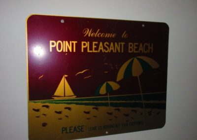 "vintage ""Point Pleasant Beach"" sign"