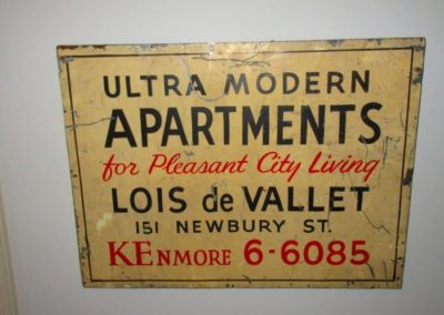"Vintage ""Ultra Modern Apartments"" sign"