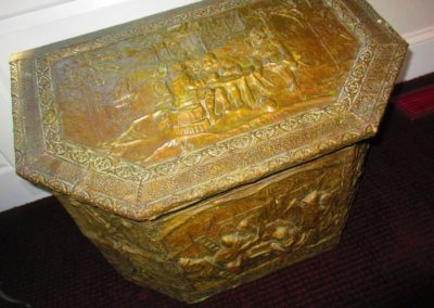 19th C. kindling box
