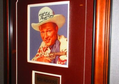 Roy Rogers autographed framed photograph
