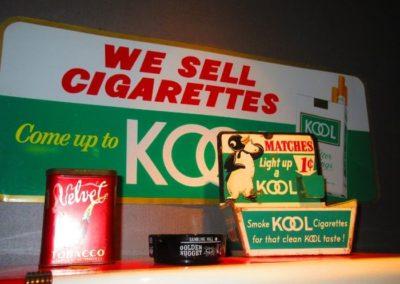 vintage cigarette signage