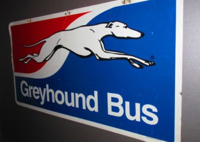 Vintage Greyhound Bus sign