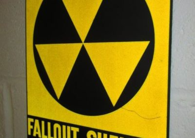 Vintage Fallout Shelter sign