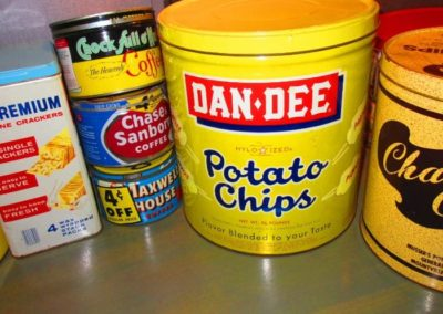 vintage tin food containers