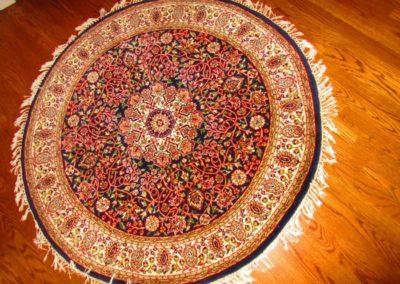 Handwoven circular rug